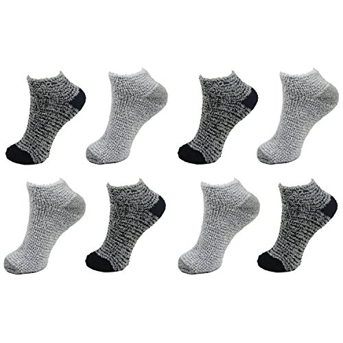 8 Pairs Assorted Super Soft Warm Microfiber Fuzzy Low Cut Socks - Value Pack - Asst F