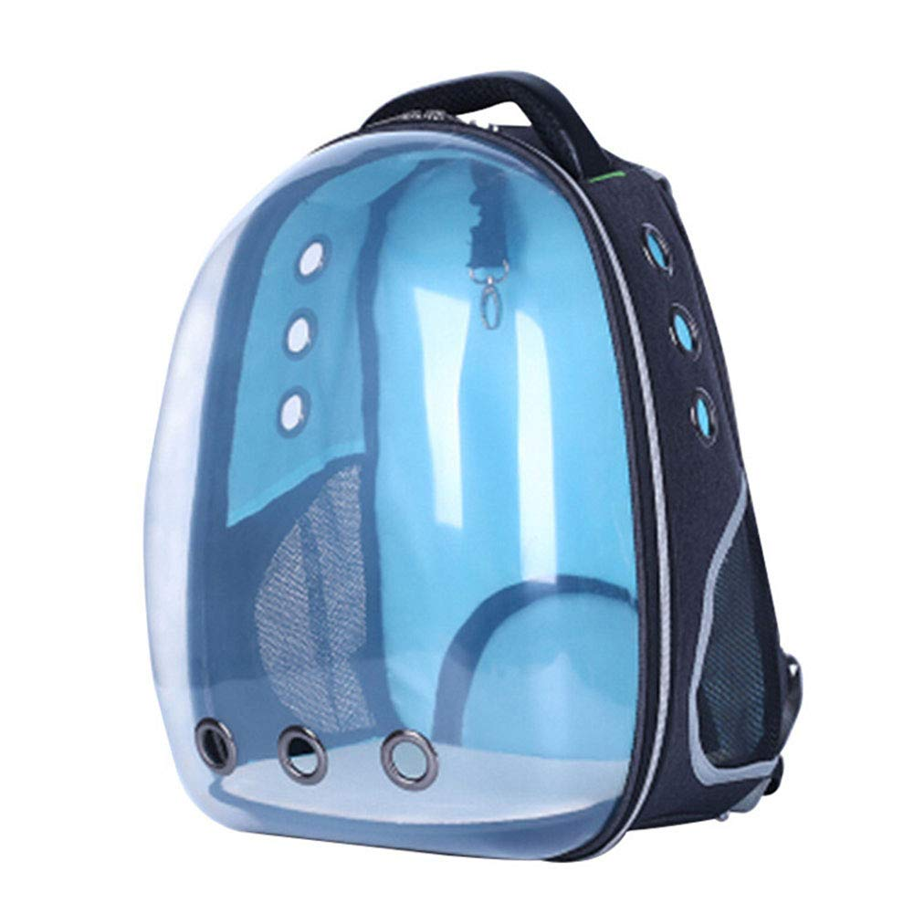 bluee GHH Pet Travel Backpack Bag Transparent Space Capsule Breathable Waterproof Pet Carrier Astronaut Dog Puppy Carrier Bubble Outdoor Portable Premium