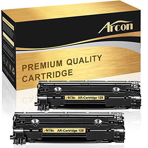 Arcon 2 Packs Compatible for Canon 128 D530 D550 MF4770n L190 L100 Toner Cartridge for Canon ImageClass D530 D550 MF4570dn MF4770n FAXPHONE L190 L100 MF4880dw MF4890dw MF4450 Printer Toner (Canon Imageclass Mf4450 Laser)