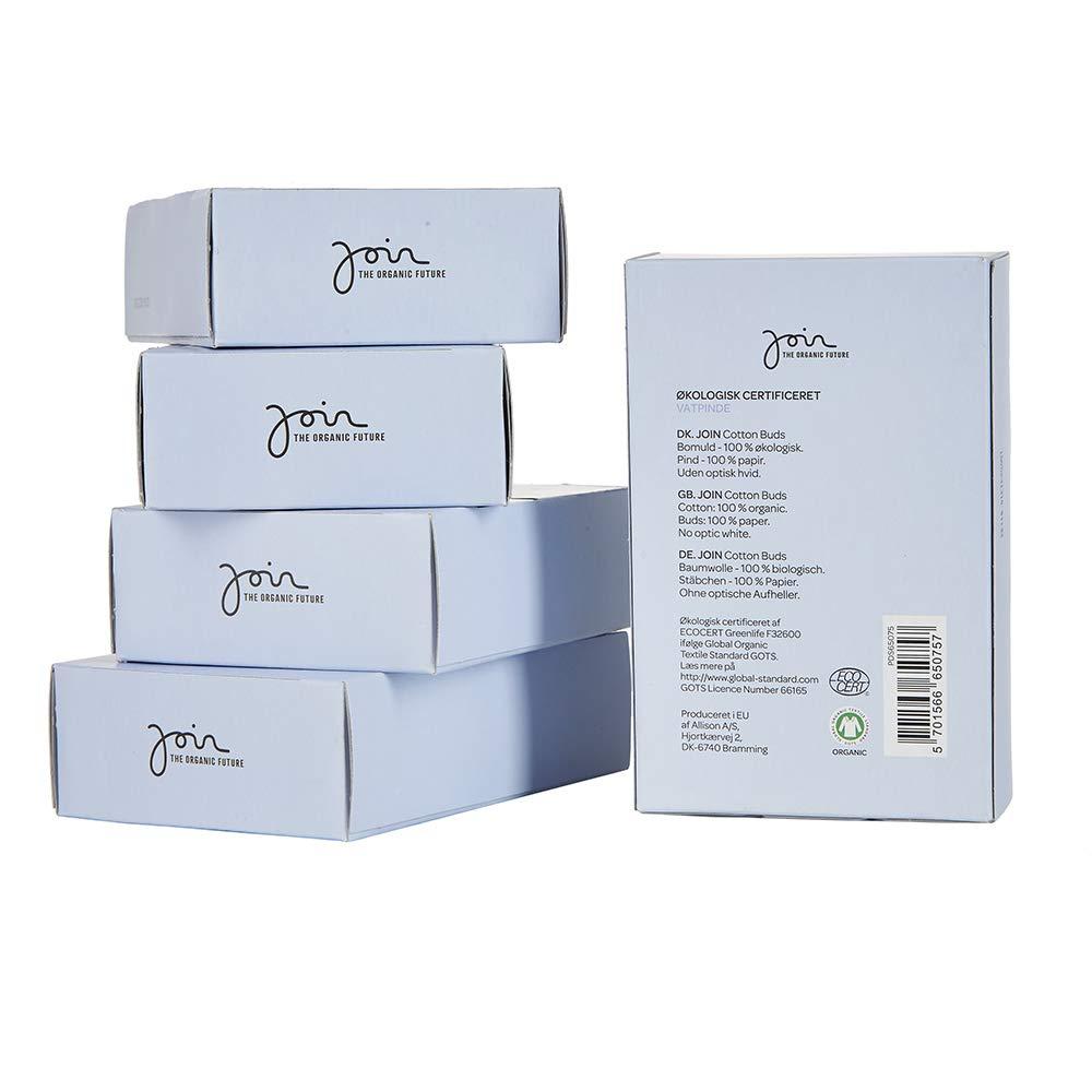 1/000 Join cotons-tiges 100//% coton doux certifi/és bio Lot de 5 paquets de 200