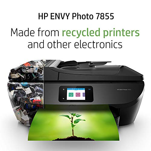 HP ENVY Photo 7855 All in One Photo Printer with Wireless Printing, HP Instant Ink & Amazon Dash Replenishment ready (K7R96A)
