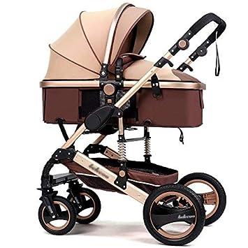 QILEGN Carrito de bebé El Cochecito de bebé de Gran Altura Puede Sentarse y plegarse en
