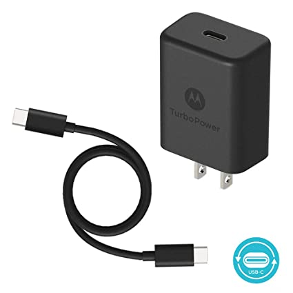 Motorola TurboPower 27 PD Charger w/ 1m (3.3ft) USB-C to