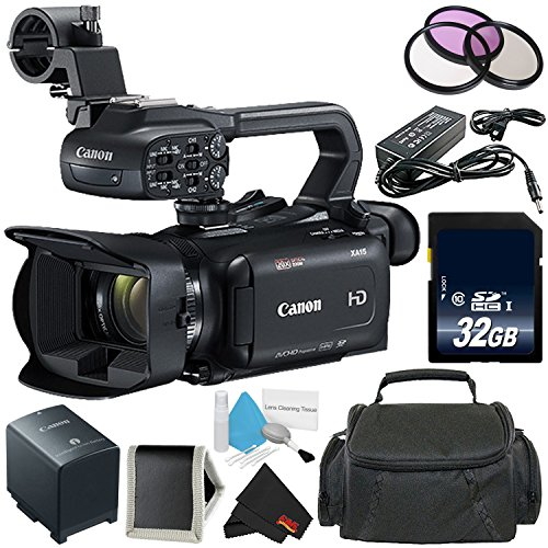 Canon XA15 Compact Professional Camcorder (2217C002)- Full HD with SDI, HDMI and Composite...