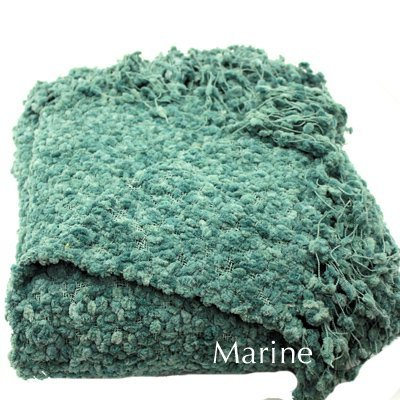 Woven Workz 051-097 Betsy Throw, Marine - Extra heavy Available in an array of colors Makes a beautiful accent throw and a warm layer - blankets-throws, bedroom-sheets-comforters, bedroom - 51jabjhnt4L. SS400  -