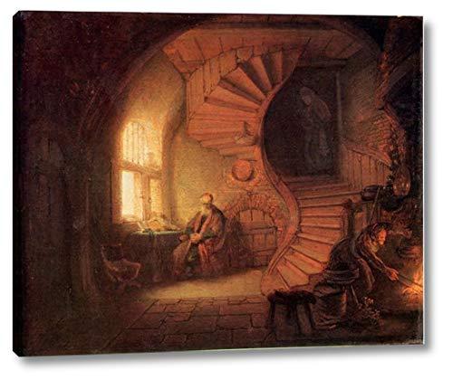Philosopher in Meditation by Rembrandt Van Rijn - 15