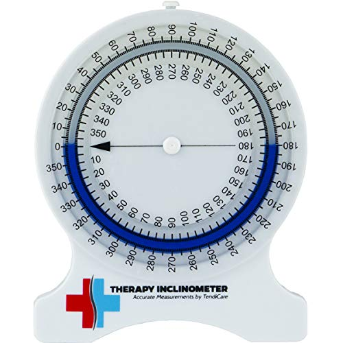 (Tendicare Therapy Inclinometer | No-Leak Range of Motion Measuring Tool for Physiotherapy, Chiropractors, Physical & Occupational Therapy Professionals & Students)