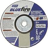 Norton Blue Fire Plus Fast Cut Depressed Center Abrasive Wheel, Type 27, Zirconia Alumina and Aluminum Oxide, 5/8''-11 Hub, 6'' Diameter x 1/8'' Thickness  (Pack of 1)