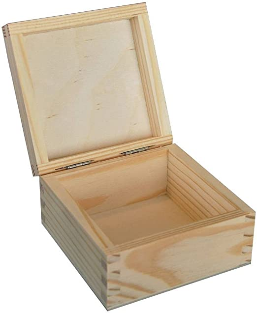 Decocraft Plain Madera – Joyero de Madera Caja de Almacenamiento ...