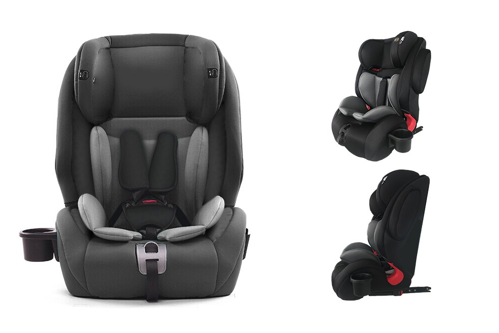 Star Ibaby City Fix HQ 668 SPS - Silla de coche Isofix grupo 1 2 3, Color Black Grey Fresh Baby