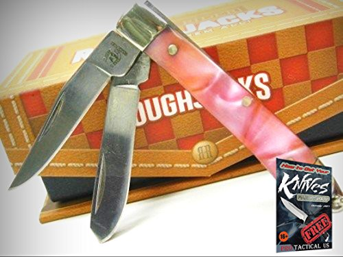 Pearl Mini Trapper (ROUGH RIDER Pink Pearl MINI TRAPPER 2 Blade Folding Pocket Knife New! 0011552 + free eBook by ProTactical'US)