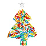 Gejoy 150 Pieces Ceramic Christmas Tree Replacement Lights, Multi Color Medium Plastic Light Up Twist/Bulbs and 1 Piece Ceramic Tree Star Ornament