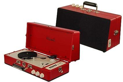 Dorex 8280 - Tocadiscos maletín, Color Rojo: Amazon.es ...
