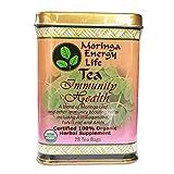 MORINGA IMMUNITY HEALTH TEA: Ayurveda's Most Famous Immune Boosting Herbs, Ashwagandha, Tulsi, Amla, Blended with Nutritious Moringa Leaf