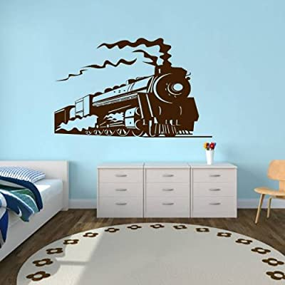 Wall Decals Train Locomotive Bedroom Living Children Girl Boy Baby Room Vinyl Decal Sticker Home Decor L6 (14x22): Home Improvement
