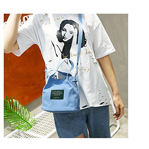 Purses Women's Shoulder Cross Blue Small Daliuing Buckets Handbag Portable Strap Bag body Detachable Travel Canvas Pink Casual Y6wtq