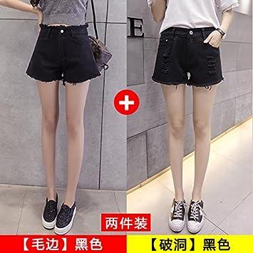 YYJZJW Ladies Shorts Women s Shorts Skirts White Denim Shorts Women s  Summer Loose Wild High-waist 83c7907630