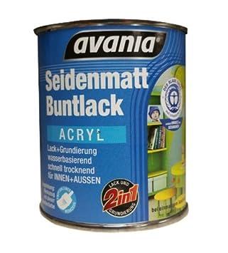 Avania Seidenmatt Buntlack Acryllack Weiß 375 Ml 2 In 1 Lack