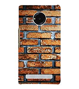 Fiobs Designer Phone Back Case Cover YU Yunique ( Wall Brick Design Pattern )