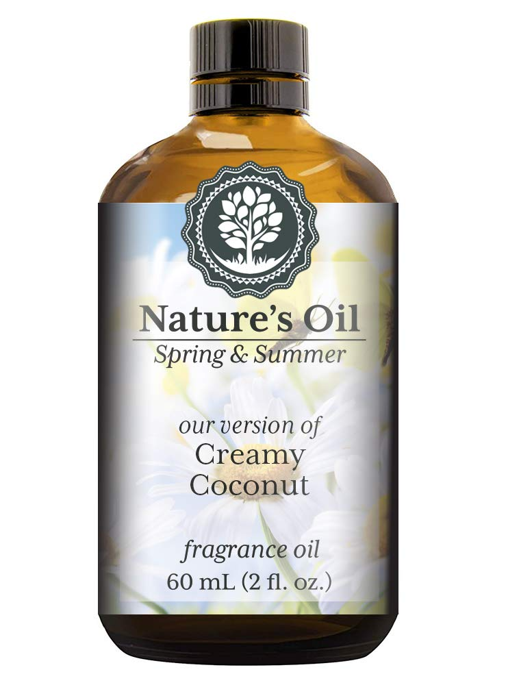 Creamy Coconut Fragrance Oil (60ml) For Diffusers, Soap Making, Candles, Lotion, Home Scents, Linen Spray, Bath Bombs, Slime
