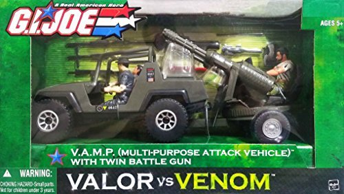 G.I. Joe V.A.M.P. (Multi-Purpose Attack Vehicle) with Twin Battle Gun and 3 Action Figures by G. I. Joe
