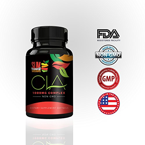 Pure-CLA-1000-by-Slim-Weighs-Conjugated-Linoleic-Acid-Weight-Loss-Supplement-that-Builds-Lean-Muscle-Mass-and-Burns-Belly-Fat-Naturally-NON-GMO-60-soft-gels