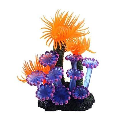 TOOGOO Decoraciones de acuario de peces Coral Artificial suave de Resina para Casa Preciosa decoracion para