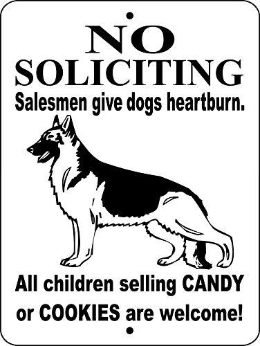 NO SOLICITING SIGN,GERMAN SHEPHERD SIGN 9