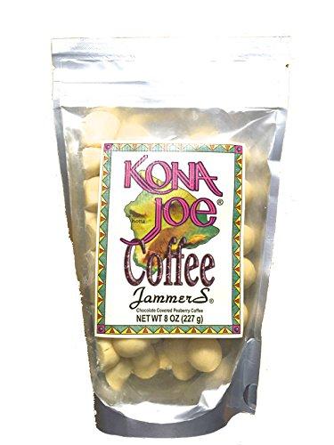 Light-skinned Chocolate Covered Kona Coffee Beans Kona Joe Coffee Jammers 8oz Bag.