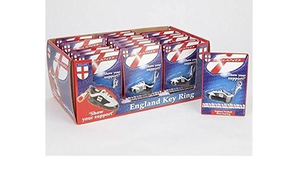 Llavero de bota de fútbol con diseño de Inglaterra: Amazon ...