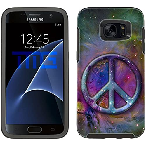 Skin Decal for Otterbox Symmetry Samsung Galaxy S7 Edge Case - Peace on Nebula Multicolor Sales