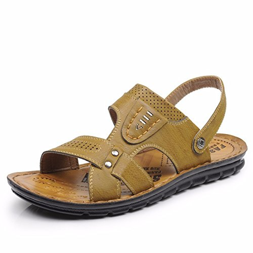 Sommer Männer Sandalen Strand Schuh Männer Atmungsaktiv Freizeit Sandalen Das neue Sandalen Männer Schuh ,Gelb,US=8,UK=7.5,EU=41 1/3,CN=42