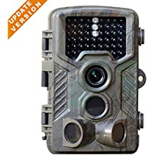 """flinelife [Updated Version] 16MP 1080P HD Game and Trail camera for Deer Hunting No Glow Infrared Scouting Camera Night Vision max to 82ft with 46pcs LEDs, 2.4"""" LCD Screen and Waterproof IP66"""