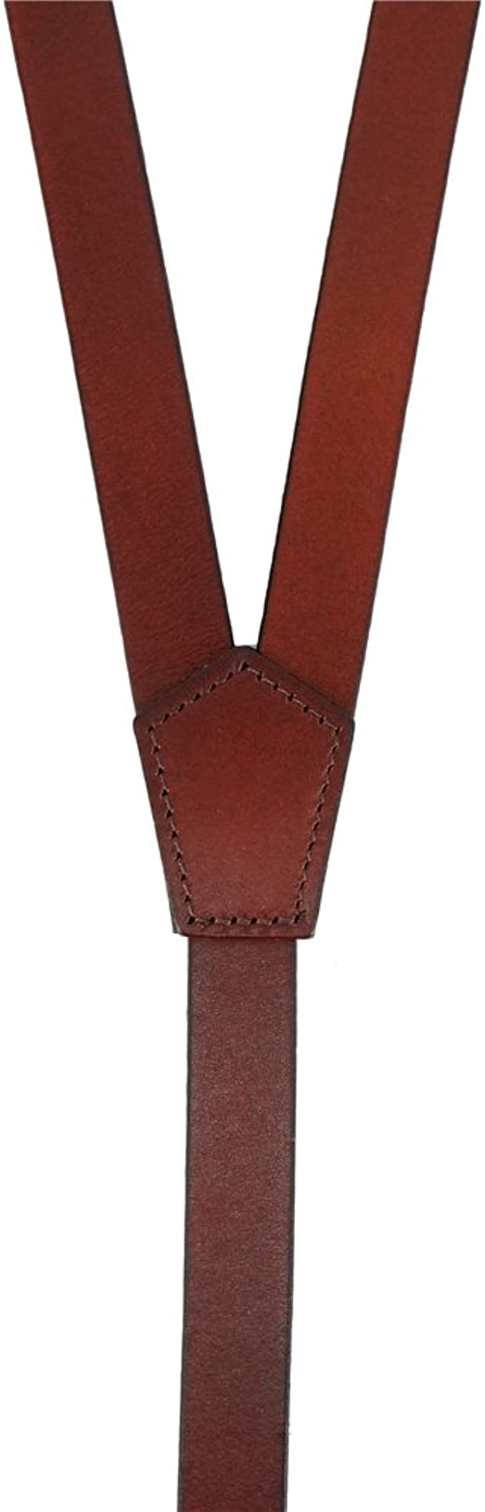 3 Ganchos de Presión Cuero Genuino de Color Rojizo Marrón Brillante Elegante y Formal Ideal para Vestir Casual Lawevan Tirantes Hombre Estilo Steampunk
