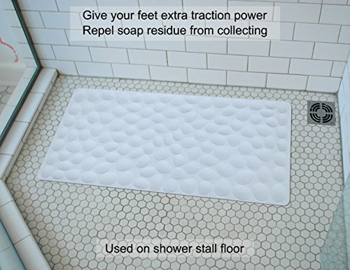 Non-slip Soft Rubber Bathtub Mat OTHWAY Bathroom Bathmat with Strong Suction Cups