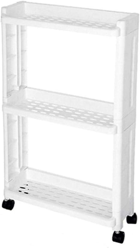 Kitchen Storage Rack Fridge Side Shelf 2//3//4 Bathroom Organizer Shelf Gap Holder