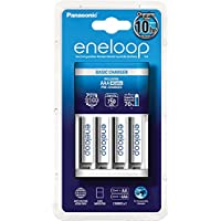 Panasonic Eneloop Chargeur Eco + 4 piles LR03-AAA Blanc