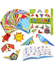 hapray Color Origami Paper for Kids, Origami Kit, 118 Sheets 6 Inch Double Sided Origami with 54 Patterns, 55 Pages Instructional Origami Book, for Craft Lessons, Beginners, Children Gift