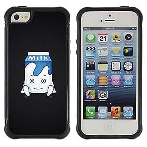 Pulsar Defender Series Tpu silicona Carcasa Funda Case para Apple iPhone 5 / iPhone 5S , Funny Cute Milk