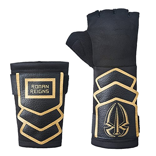 Roman Reigns WWE Superman Punch Glove Wristband Set -Gold by Roman Reigns