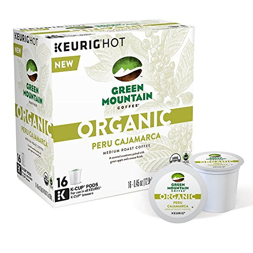 Green Mountain Coffee Organic Peru Cajamarca Keurig K-Cups, 16 Count (Keurig Organic Coffee K Cups compare prices)