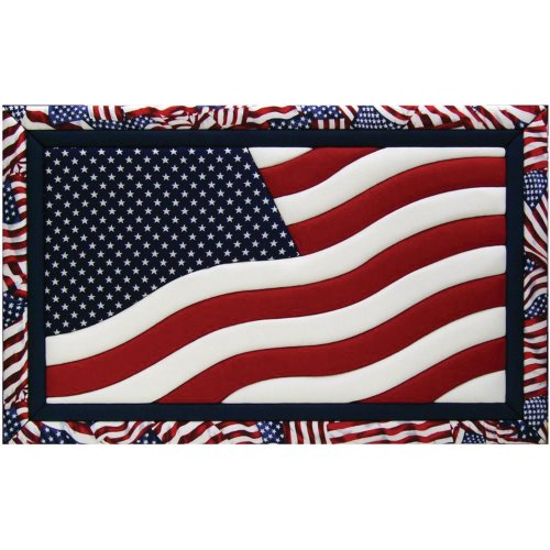 Quilt Magic American Flag Kit, 12-Inch by (Flag Quilt Patterns)