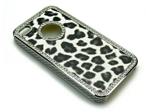 Sandberg Fourrure avec Strass pour iPhone 4/4S Motif léopard
