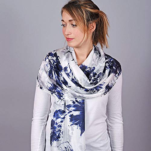 Silk Sciarpa Blue Alley Charcoal Stole 7qrUn5Tzwq