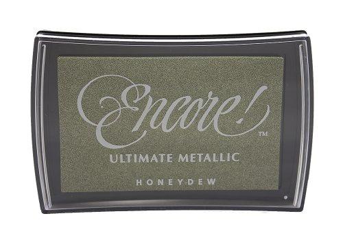 Tsukineko Full-Size Encore Ultimate Metallic Pigment Inkpad, Honeydew