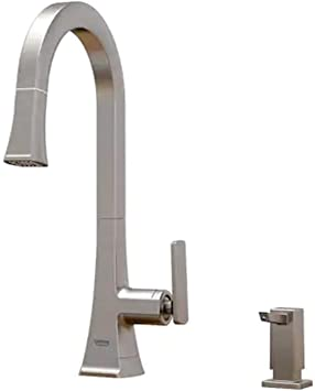 Grohe Carre Stainless Steel 1 Handle Pull Down Kitchen Faucet 30365dc0 Amazon Com