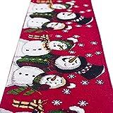 TIFENNY Christmas Linen Table Runner Cover