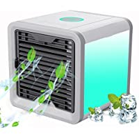 Personal Space Air Cooler, Mini 3 in 1 Air Conditioner, Humidifier, Purifier, 7 Colors Nightstand and 3 Speed Modes Evaporative USB Table Cooling Fan for Home Office Travel