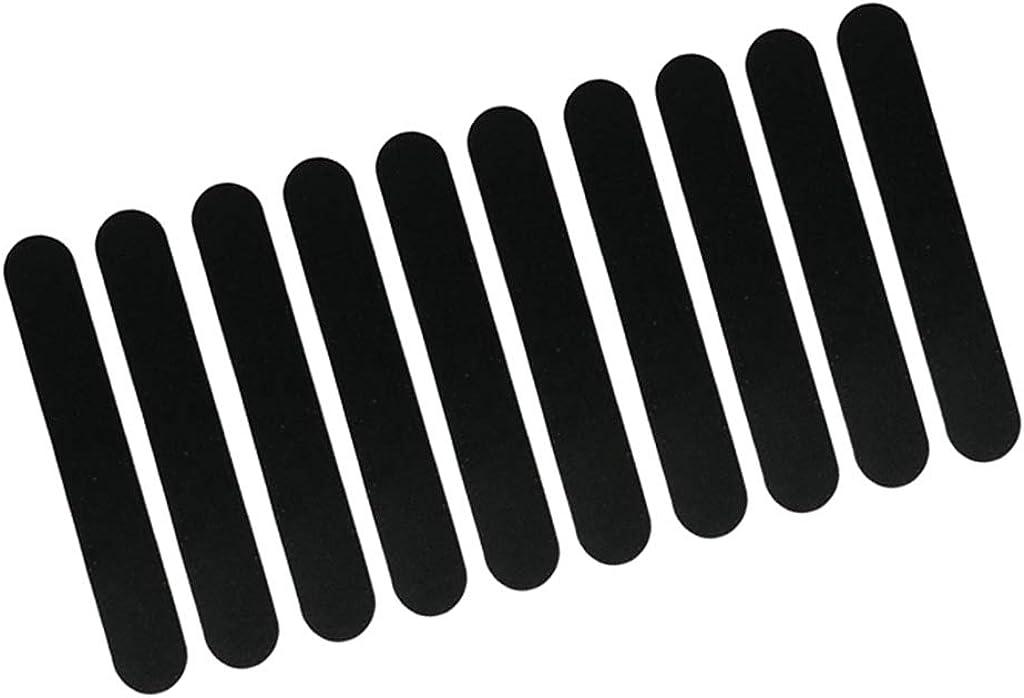 Nero perfeclan 10 Pezzi Di Cappello Riduttore Sostituzione Del Nastro Riduttore Formato Feltro Per Cappelli Cappelli Fascia Di Sudore Resistente E Duraturo
