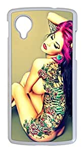 Amazing Tattoo Easter Thanksgiving Personlized Masterpiece Limited Design PC White Case for Google Nexus 5 by Cases & Mousepads
